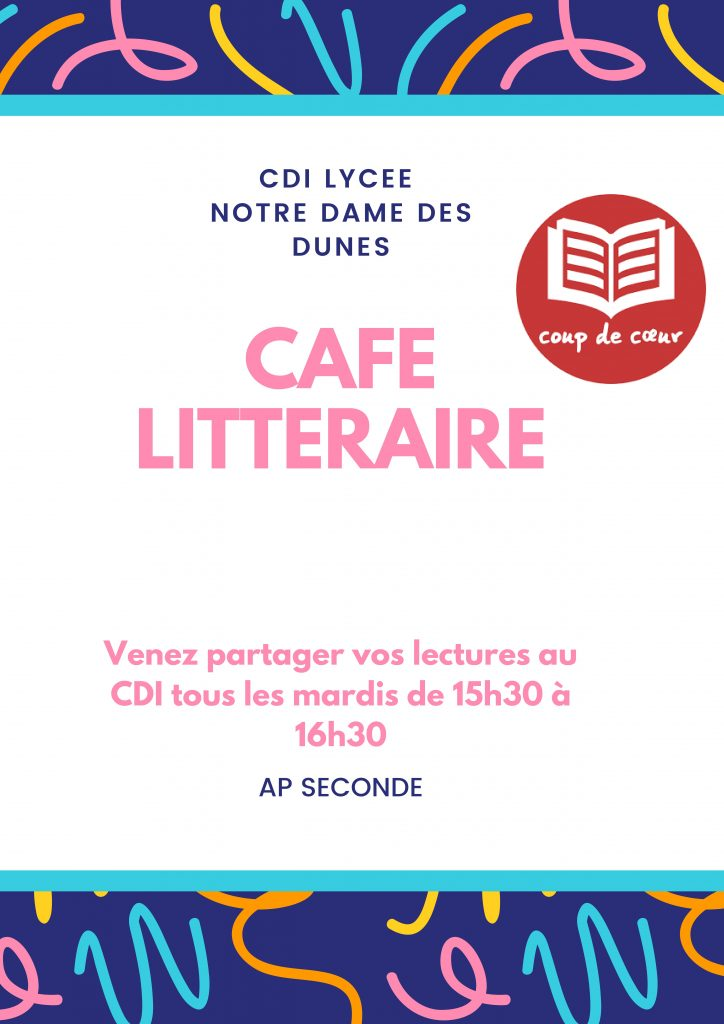 Café littéraire en seconde sur temps d'AP.